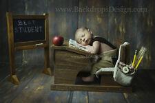School Desk and Chalkboard  photography newborn vintage prop wood hand made