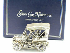 Vintage Franklin Mint Silver Car Miniature 1903 Fiat