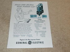 General Electric Tube Ad, 1 pg, 7355 Beam Power Triode