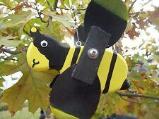 Bee Mini Whirligigs Whirligig Windmill Yard Art Hand made from wood