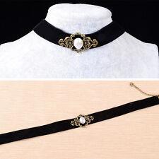 Vintage Black Velvet Retro Choker Collar Bib Necklace Charm Pendant Jewelry BB