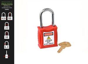 Red Lockout Tagout LOTO Safety Padlock