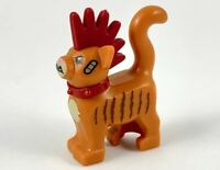 Lego New Dark Orange Minifig Cat  Dark Red Mohawk Dk Brown Stripes Standing D679