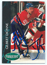 Gilbert Dionne signed 1992-93 Parkhurst card Montreal Canadiens autograph #81