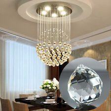 1Pc Hanging Clear Crystal Chandelier Ball Rainbow For Wedding Decor Prism Lamp