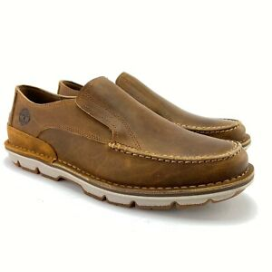 Timberland Men's Coltin Brown Full Grain Leather Slip On Loafers TB0A1A6P