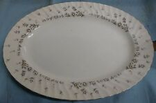 """Style House Fine China PICARDY Oval Platter 14 3/4"""" x 10 3/4"""" Roses/Floral JAPAN"""