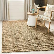 Jute Rug 100% Natural Braided Rectangle Floor Rugs Modern Look Area Rug Carpet