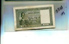 Yugoslavia 1939 10 Dinara Currency Note Xf 5808M