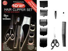 10 PIECE HAIR BEARD NECK CLIPPER TRIMMER SET ADVANCED STAINLESS STEEL MEN WOMEN