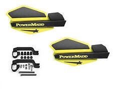 Powermadd Star Series Handguards Guards Mount Kit Yellow / Black Yamaha ATV