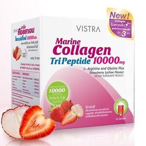 1 Box VISTRA Marine Collagen 10000mg Dietary Supplement Health White Bright ST