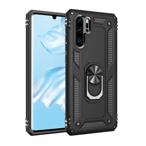 For Huawei P30 P20 Lite P Smart Z Military Armor Case Magnetic Ring Holder Cover