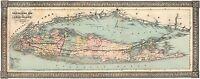 Long Island 1866 Panoramic Traveller's Map of Long Island, New York Art Prints