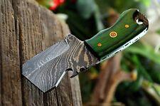 "4.2"" Handmade Damascus Hunting Pocket Cleaver Mini Knife, UK-206"