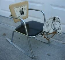Vintage 1950's/1960's Hopalong Cassidy Rocking Chair with Topper the Horse