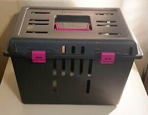 PET CADDY Katzenbox Transportbox für Katzen Hunde Haustiere Hundebox STABIL Box