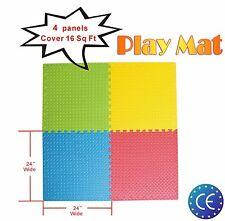 Baby Children Kids Play Mats Game Mats 4 Panels Set Activity Soft Mat 61*61cm UK