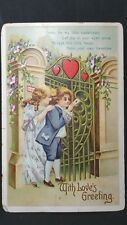 Vintage Valentine Post Card With Loves Greeting Come be my little sweetheart