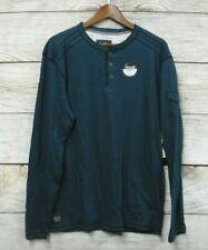 Modern Culture Shirt Mens XL Legion Blue Slub Pocket Sleeve Slim Fit Tee New