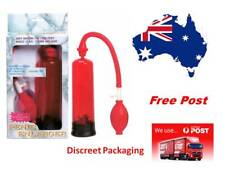 Fireman's Penis Pump Erection Enhancer  With Quick Release Valve  Red
