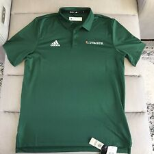 Mens L Large Miami Hurricanes Adidas Polo New With Tags NWT