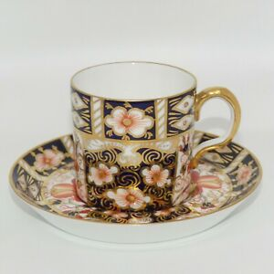 Royal Crown Derby Traditional Imari 2451 demi tasse coffee duo c.1912 - 1914