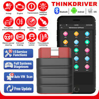 Launch Thinkdriver Car EOBD Scanner Bluetooth SRS ABS TPMS Full System Scan Tool