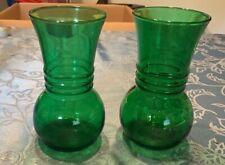 Vintage Anchor Hocking Vase Forest Green