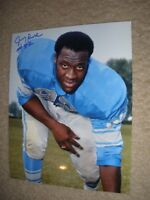 Autographed 8 x 10 Detroit Lions Jerry Rush- from Topps 1970 Rookie Negative