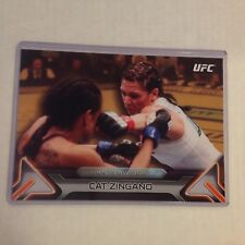 CAT ZINGANO #83 2016 Topps Knockout fighter MMA TUF 5X7 UFC GOLD 03/10 made