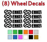 8 Enkei Logo Vinyl Decals Stickers for GTC01 PF01 RPF1 Wheels Rims