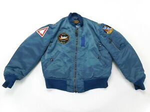 Flight Jacket Blue Vintage MA-1 Medium Intermediate US Military Reproduction