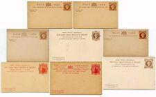 GB QV enteros postales tarjetas de respuesta pagada.. 8 diferentes