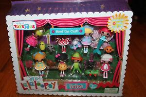 Mini LALALOOPSY 16 pc Fairy TALES Meet the Cast 8 DOLLS + PETS Toys rUs MINI SET