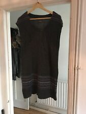 Marks And Spencer Per Una Size 14 Grey Knitted Tunic Dress (MX14)