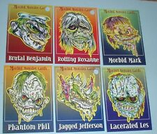 Set Of 6 Morbid Monster Promo Cards (5 Cards 1 of 500) - (1 Card 1of 1500)