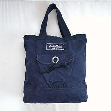 Blue Cotton Canvas ABERCROMBIE FITCH Shoulder Hand Bag Beach Tote Purse Sack