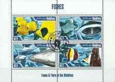 Timbres Poissons Requins Maldives 4103/6 o année 2013 lot 14822 - cote : 16 €