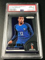 KYLIAN MBAPPE 2018 PANINI PRIZM WORLD CUP #NE-9 NEW ERA ROOKIE RC PSA 10