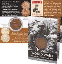 Original George V Bronze Half Penny Coin Pack WW1 100 Year Anniversary Centenary