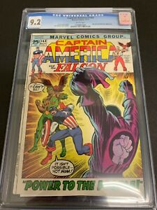 CAPTAIN AMERICA #143 * CGC 9.2 * (MARVEL, 1971) WHITE PAGES!!  FALCON!!