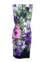Connected Women's Sleeveless Floral-Print Sheath Dress