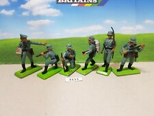 Britains Deetail Ww2 German Infantry Set of 6 (lot 3111)
