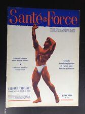 Rare revue Santé et force N° 124 1958 TBE Musculation Culturisme