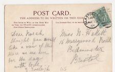 Miss Hallett, 16 Merrywood Road, Bedminster, Bristol 1904 Postcard, M033
