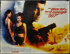WORLD IS NOT ENOUGH 1999 ORIG 46X60 SUBWAY MOVIE POSTER 007 BOND PIERCE BROSNAN