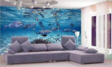 3D Wallpaper Fish Aquarium Mural WallPaper Underwater World of Marine
