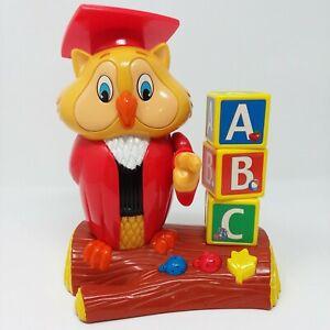 Hasbro 2002 Professor Oliver Owl Teaches ABC's Alphabet Song Games Toy