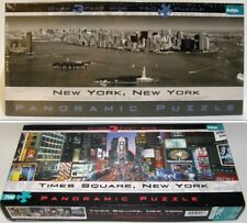 Two - Panoramic Jigsaw Puzzles - B&W New York, N.Y. &  Times Square